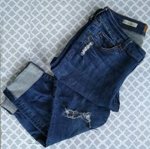 Kut from the Kloth Asher Ankled cropped jeans sz 4